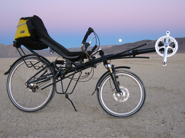 [Zach's photo of one of his recumbents, on the Nevada Black Rock desert playa]